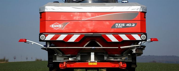 Now in Stock - Kuhn Axis 40.2 M-EMCW and 30.2Q Fertiliser Spreaders